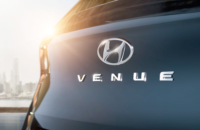 2020 Hyundai Venue Badging on back of vehicle