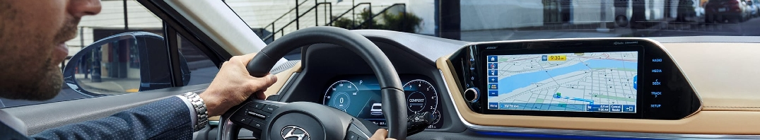 touch screen with navigation in the 2020 hyundai sonata