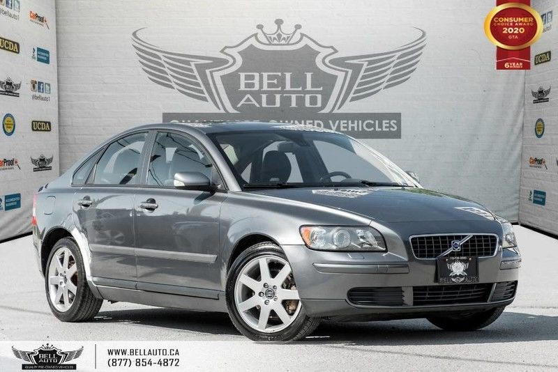 Exterior view of a gray 2005 Volvo S40 in the Bell Auto Inc showroom