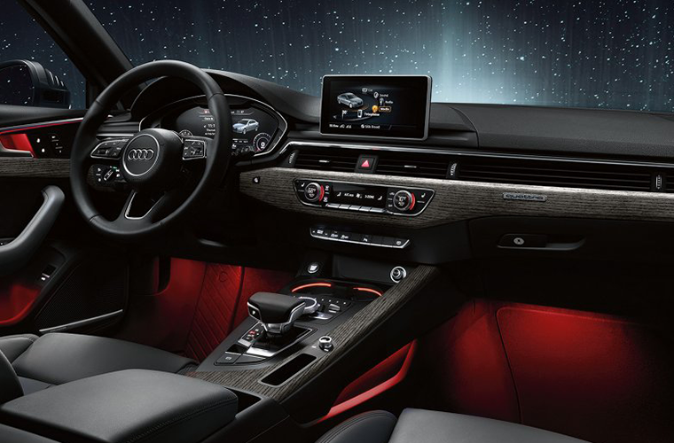 Interior view of the 2018 Audi A4