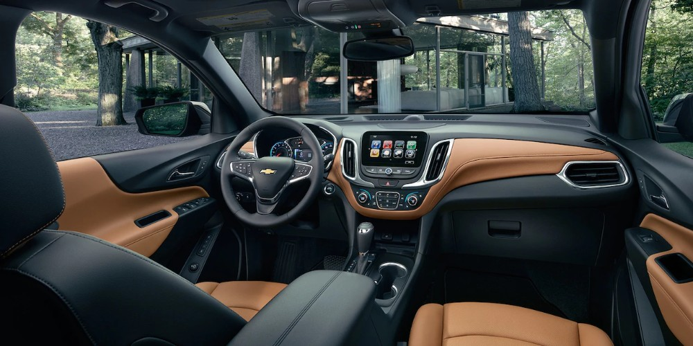 2018 Chevy Equinox interior view of the front end from the second row looking at the driver's seat