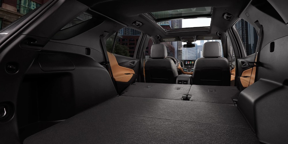 2018 Chevy Equinox interior cargo space with all seats folded down