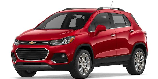 2018 Chevy Trax in Cajun Red Tintcoat