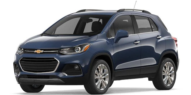 2018 Chevy Trax in Storm Blue Metallic