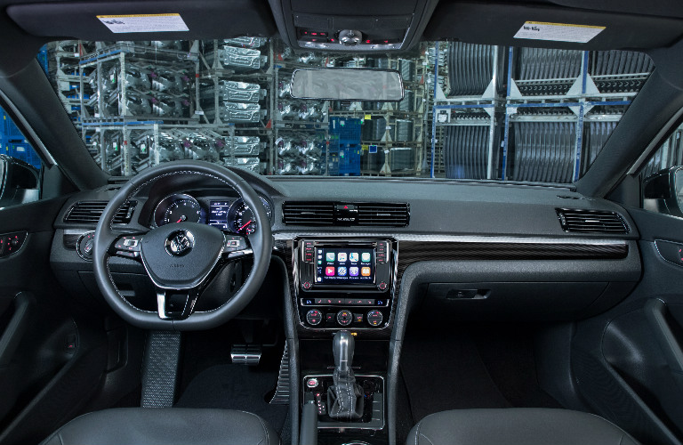 Dashboard and Grey Front Seats of 2018 VW Passat GT Special Model