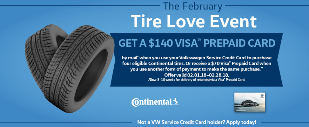 The February Tire Love Event Title, Promotion Details, and Two Tires