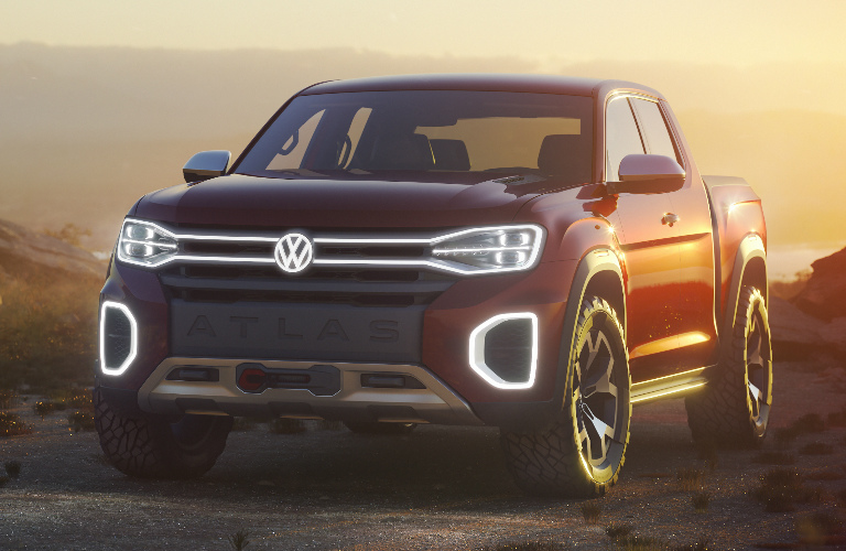 Front View of Red VW Atlas Tanoak Concept
