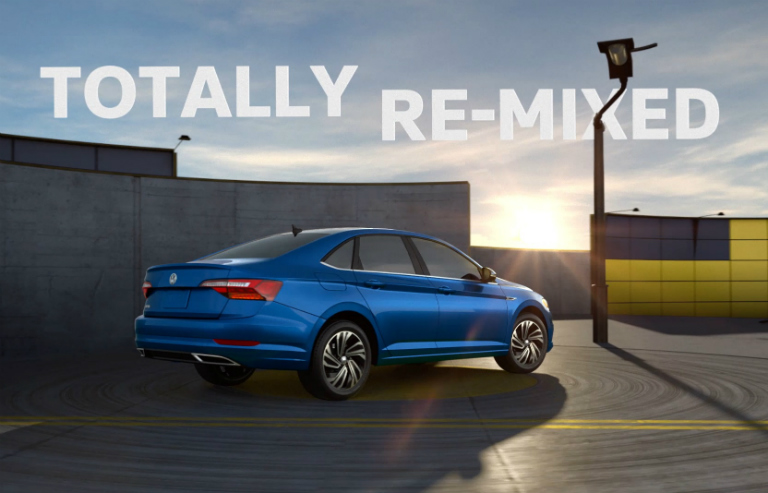 TOTALLY RE-MIXED Heading and Blue 2019 VW Jetta