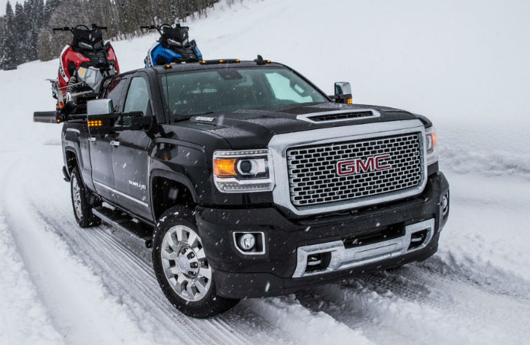 2018 GMC Sierra 2500HD Denali carrying motorbikes
