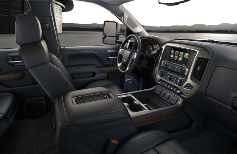 2018 GMC Sierra 2500HD Denali dashboard and drivers seat
