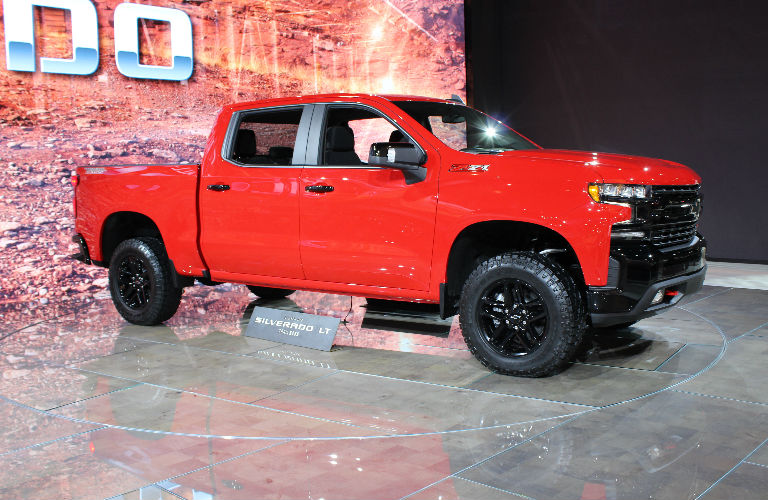 2019 Chevy Silverado Trail Boss in orange