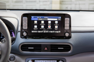 2019 Hyundai Kona EV interior close up of screen display
