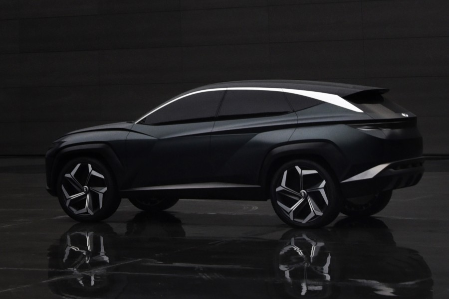 Rear driver angle of the Hyundai Vision T concept