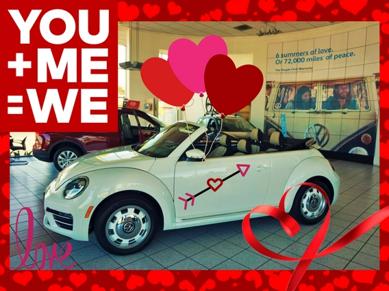 Valentine's Day Herman Cook VW Showroom Beetle Convertible