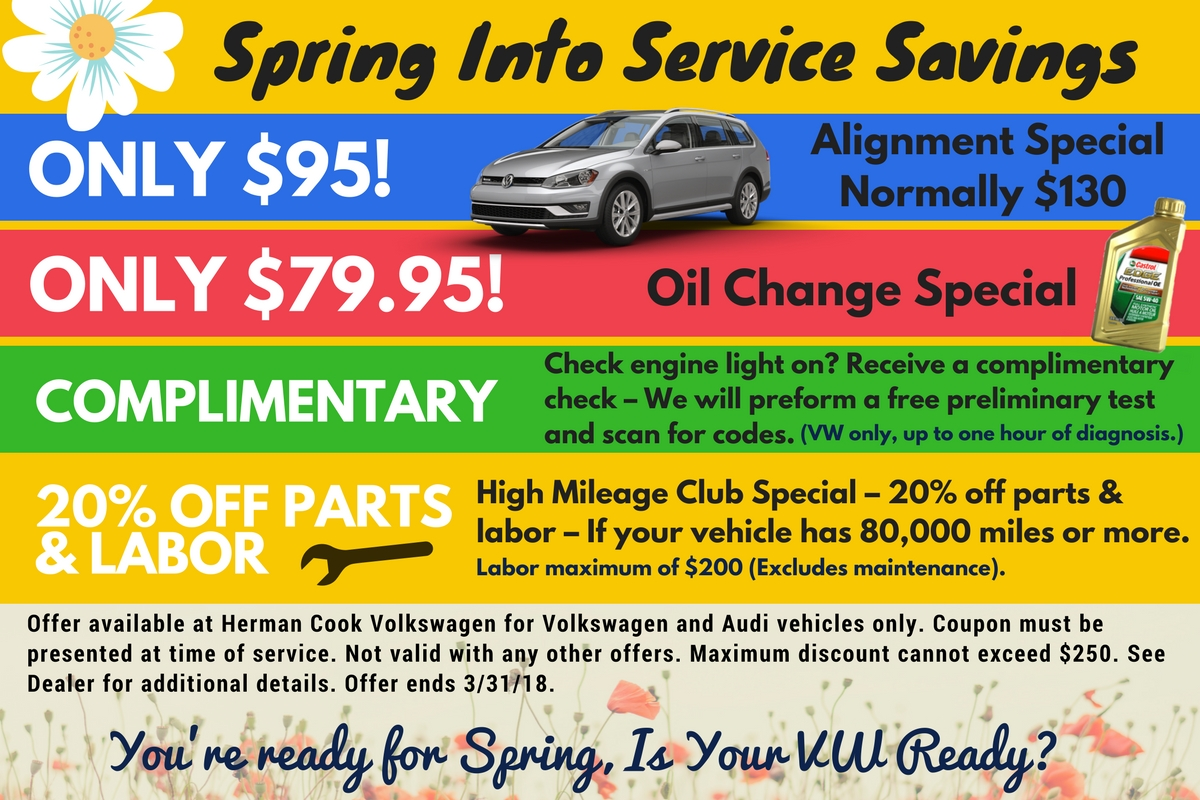 Spring Into Service at Herman Cook Volkswagen