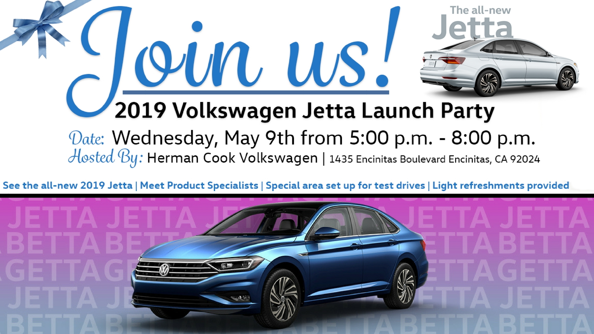 You're Invited! 2019 Volkswagen Jetta Launch and Pizza Party