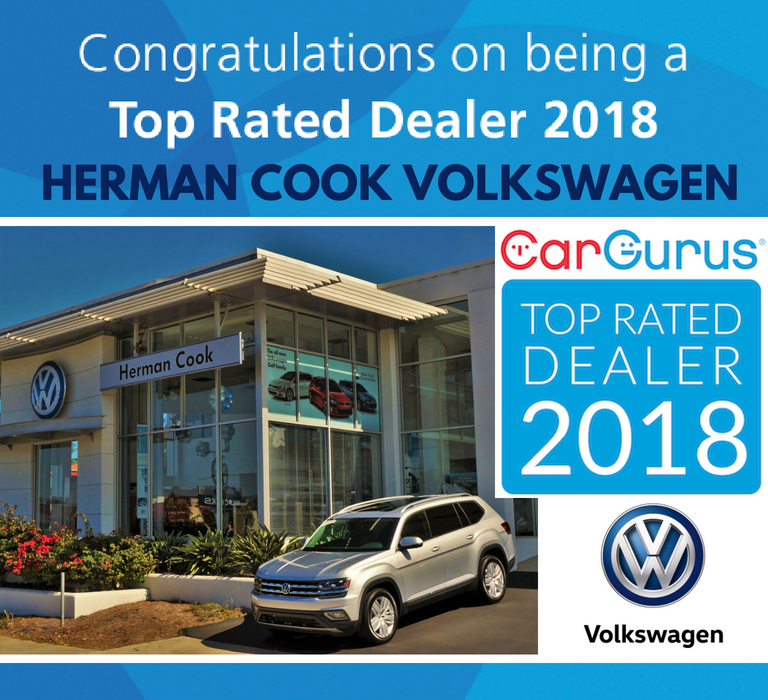 CarGurus Top Rated Dealer 2018 Herman Cook VW