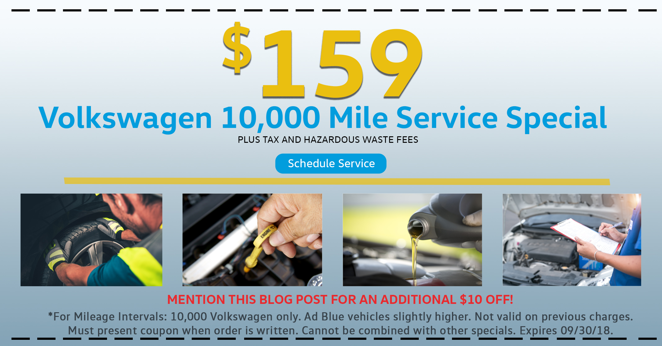 10,000 Mile Summer Service Special