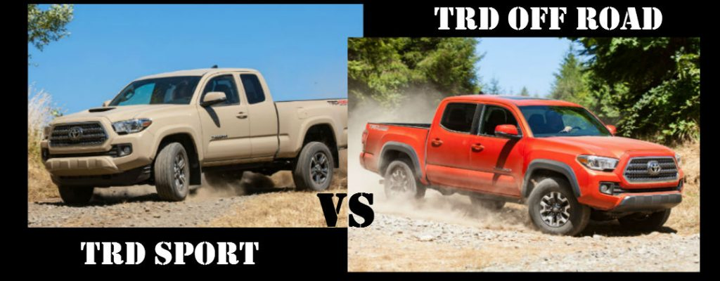 toyota tacoma trd sport vs toyota tacoma trd off road. Black Bedroom Furniture Sets. Home Design Ideas