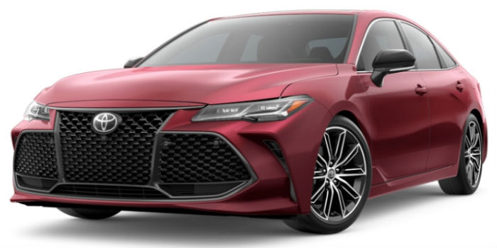 2019 Toyota Avalon Ruby Flare Pearl Exterior on a White Background