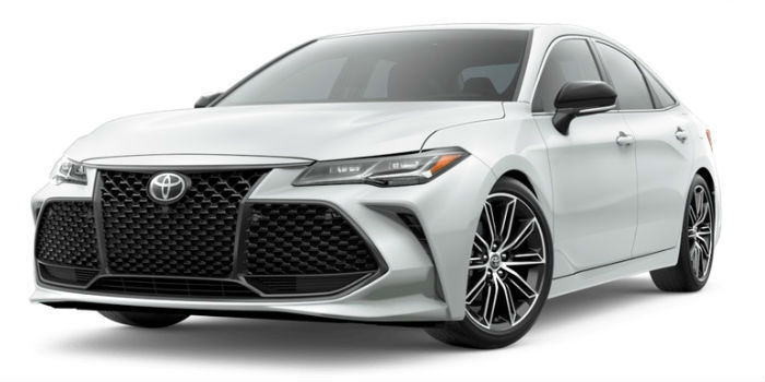 Wind Chill Pearl 2019 Toyota Avalon Exterior on a White Background