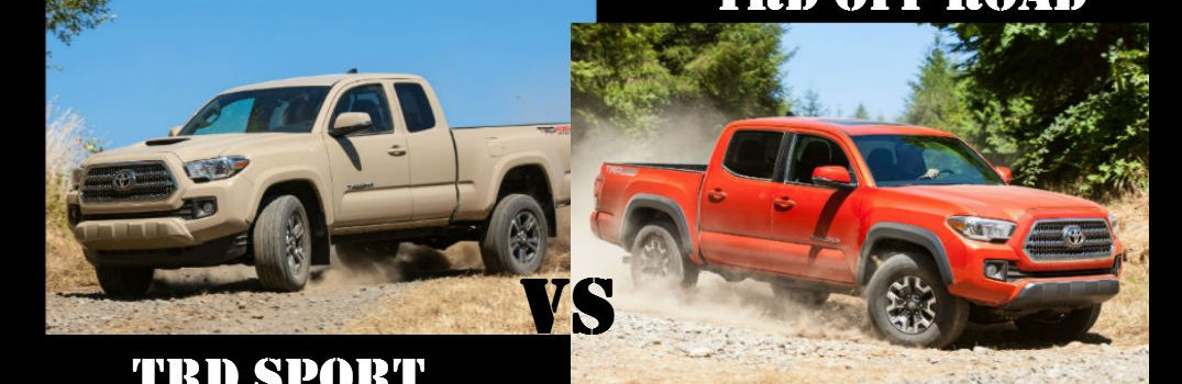 Differences Between the Toyota Tacoma TRD Sport and Toyota Tacoma TRD Off Road Trim Levels
