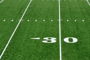 thirty yard line marker for nfl