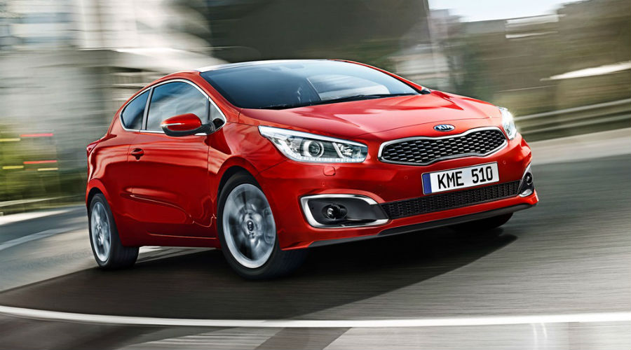 kia pro_cee'd driving with front three quarter view