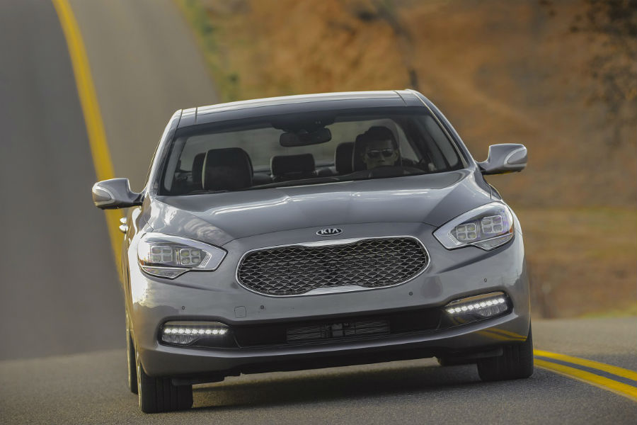 2017 kia k900 grille and front end