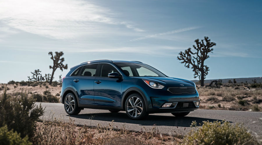 blue 2019 kia niro in the desert around clearwater, florida