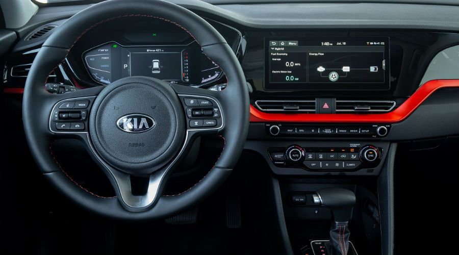 interior of 2020 kia niro