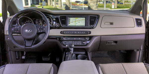 Interior view of 2018 Kia Sedona