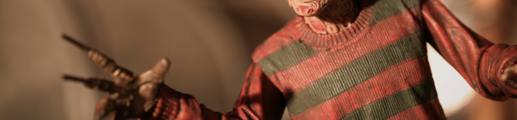 Closeup of Freddy Krueger figure
