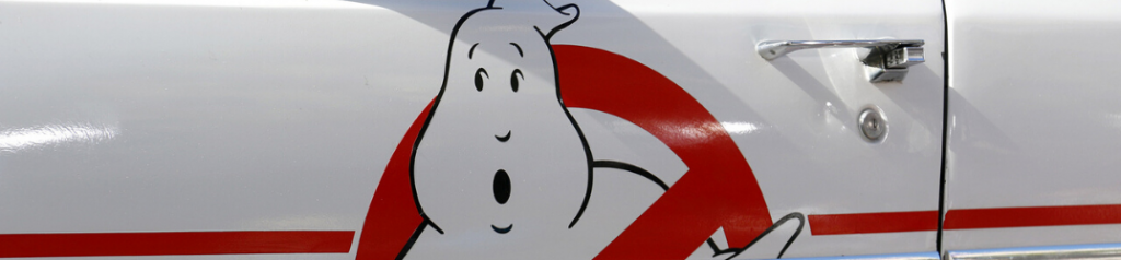 Closeup of Ghostbusters icon on vehicle
