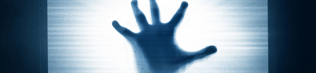 Scary looking hand on screen