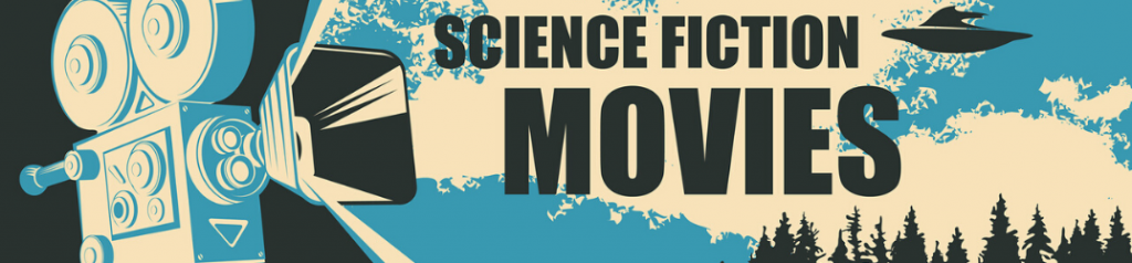 """Movie camera with """"Science Fiction Movies"""" black text"""
