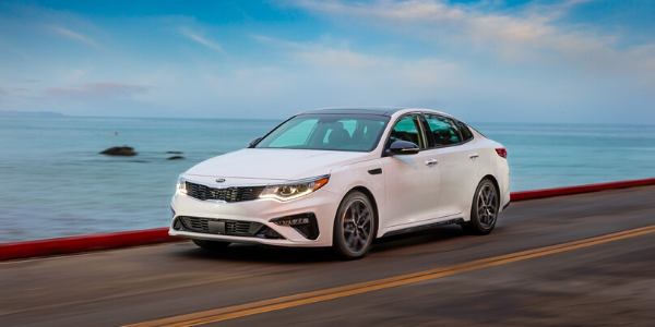 White 2020 Kia Optima