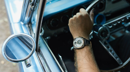 Ford Mustang watch on wrist