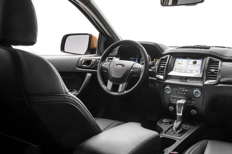 driver cockpit of the 2019 Ford Ranger
