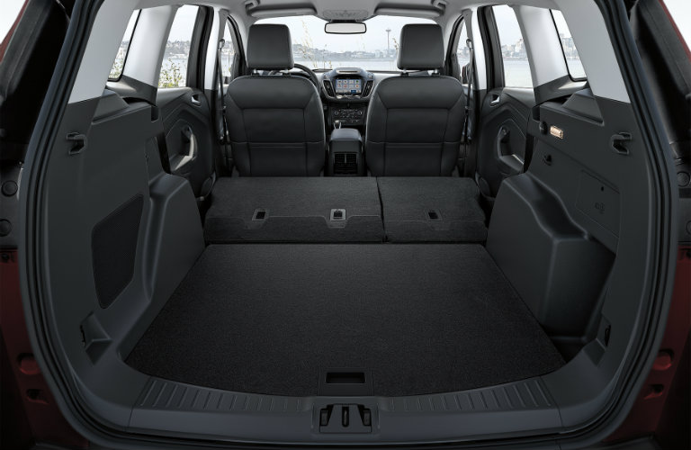 rear cargo area of the 2018 Ford Escape