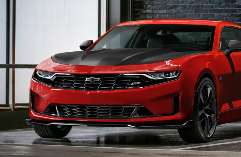red and black 2019 Chevy Camaro Turbo 1LE