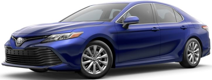 2018 Toyota Camry Blue Crush Metallic