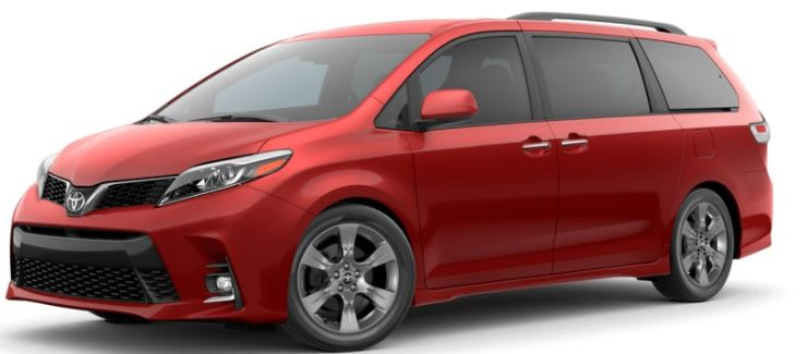 2018 Toyota Sienna Salsa Red Pearl