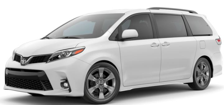 2018 Toyota Sienna Exterior Color Choices
