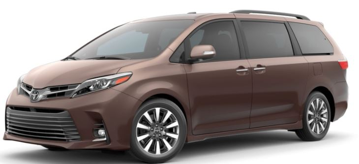 2018 Toyota Sienna Color Choices