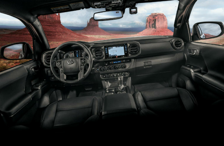 2018 Toyota Tacoma front view interior