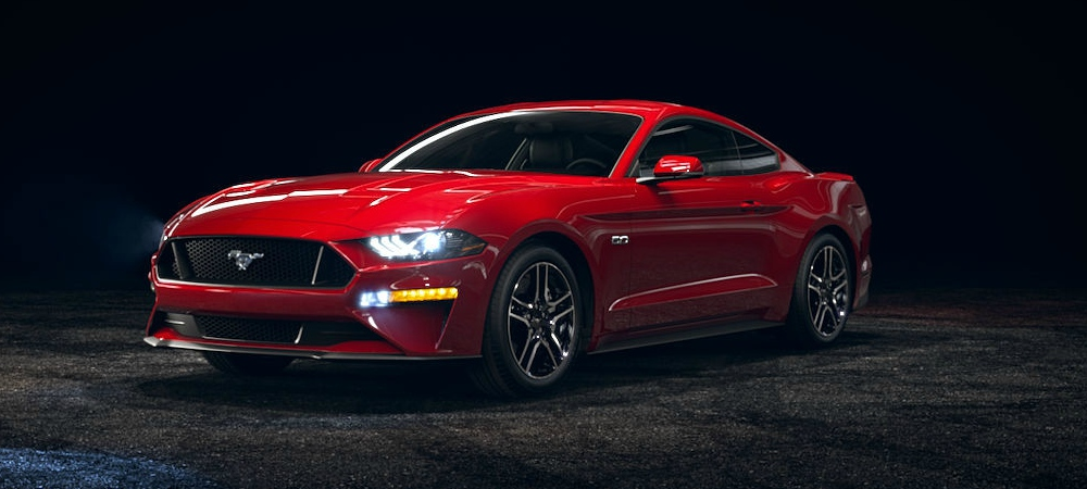 2018 Ford Mustang Race Red Front Side View