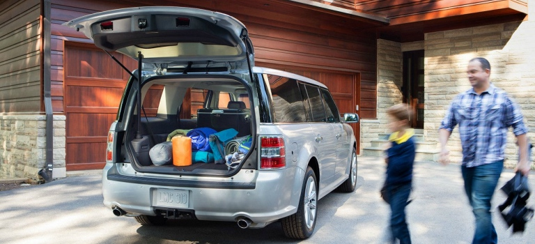 Ford Flex With Cargo In Back Seating