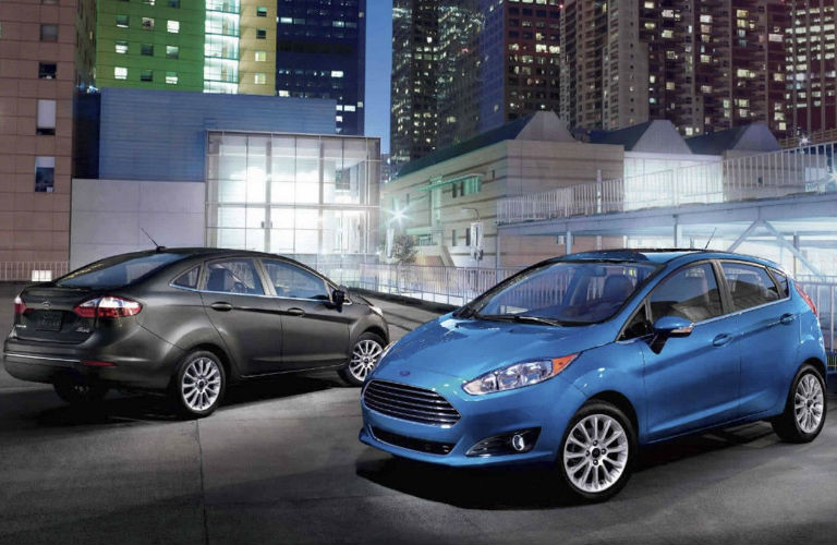 2017 Ford Fiesta Models Parked Side By