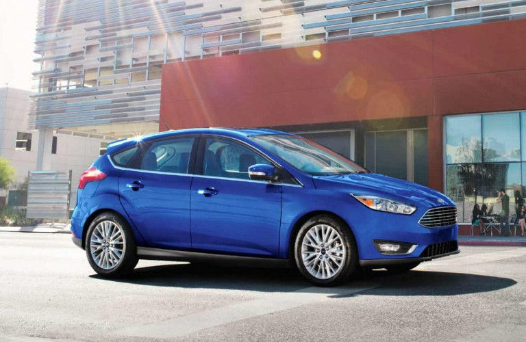 2018 Ford Focus Driving Down The Street Exterior Side View